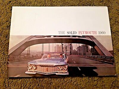 "Vintage Original 1960 Plymouth Sales Brochure ""The SOLID PLYMOUTH 1960"" 28 pgs"