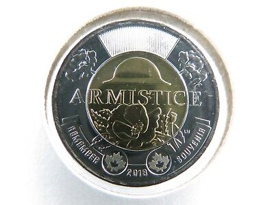 Canada 2018 BU $2 Twoonie Armistice Poppy Non-Coloured from Roll BEST QUALITY