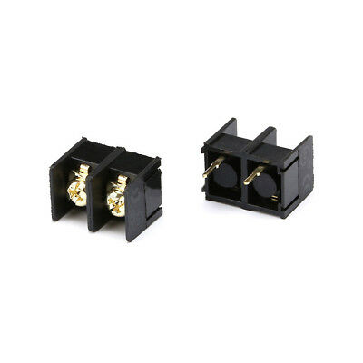 10mm Pitch 2 Pin Way PCB Mount Barrier Screw Terminal Block Connector 300V 25A