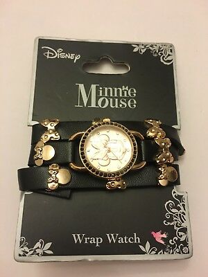 Disney Minnie Mouse Rose Gold & Bling Wrap Watch Brand NEW!