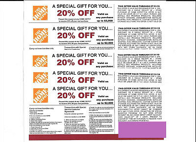 5  20% OFF HOME DEPOT Competitors Coupon at Lowe's expires  07/31/19