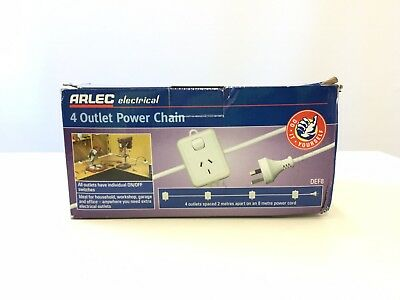 Arlec Electrical 4 Outlet Power Chain DEF8