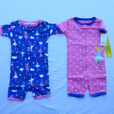 2832c7bc6e55 CARTERS 2- PACK 3-month baby boy snap up sleep   play long sleeve ...
