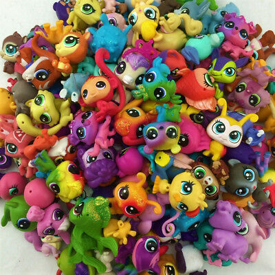 Lot10PCS Original Littlest Pet Shop Mini LPS Cute Animals Figure Toys - Random