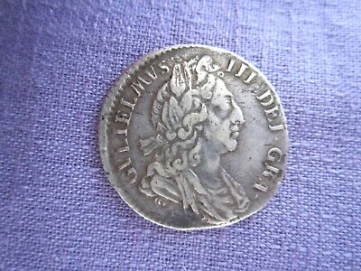 William III 1697 6 sixpence struck off centre, silver, nice grade Low start L@@K