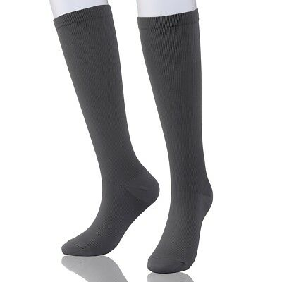 2 Pairs Compression Socks 15-20 mmhg Graduated Athletic Medical Running Flight