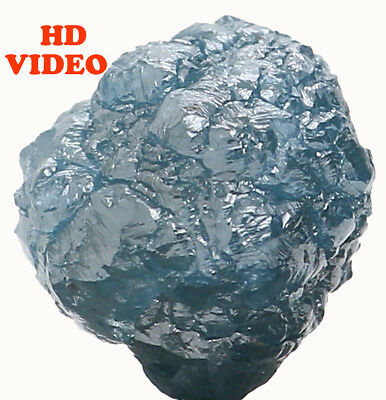 Natural Loose Diamond Blue Color Rough I3 Clarity 6.40 MM 1.87 Ct KR887