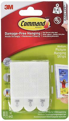 Command Medium Picture Hanging Strips, White, Create Gallery Walls, Easy On,