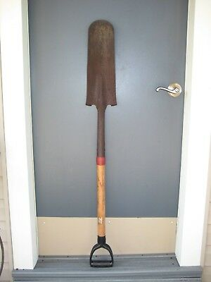 """Old 47"""" Sod Ditch Drain Spade Shovel Fence Post Trench Digging Garden Farm Tool"""
