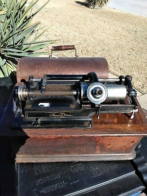 Antique Edison Home Phonograph Cylinder Player for Parts or  Restoration
