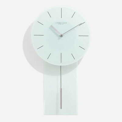 London Company Glass Pendulum Silent Sweep Wall Clock 47.5x25.5cm *FREE DELIVERY