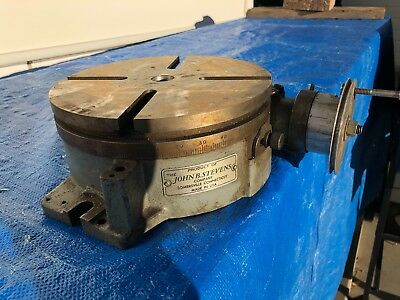 """John Stevens Company 8"""" Rotary Table  -- Made in USA -- Somersville Connecticut"""