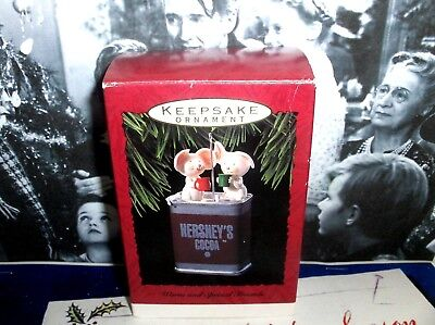 Warm And Special Friends`1993`Mice Having Some Hershey's Coco,Hallmark Ornament