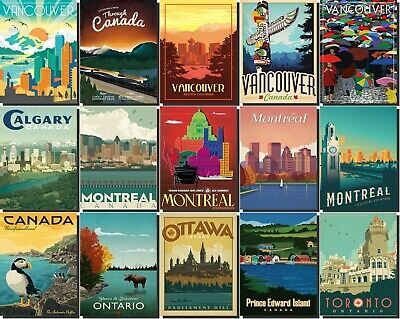 Canada Fridge Magnet Poster Vintage Retro Art  All State Photo gift souvenir