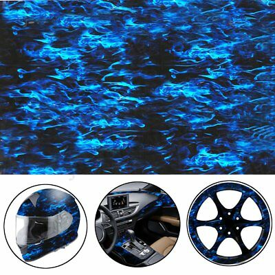 Blue Fire PVA Hydrographic Film Water Transfer Printing Hydro Dip Car Film