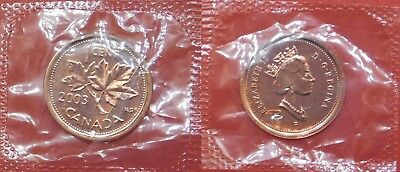 Proof Like 2003P Canada Crowned 1 Cent Sealed in Cello