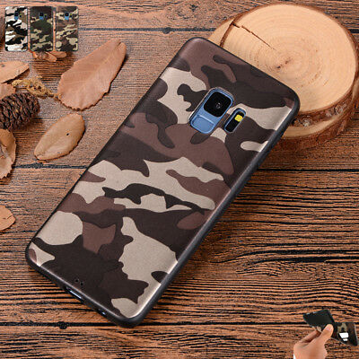 For Samsung Galaxy Various Phones Army Camo Army Green Soft Silicone Case Cover