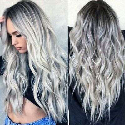 Synthetic Lace Front Wigs Blonde Long Full Hair Natural Wavy Women Wig 70cm AU