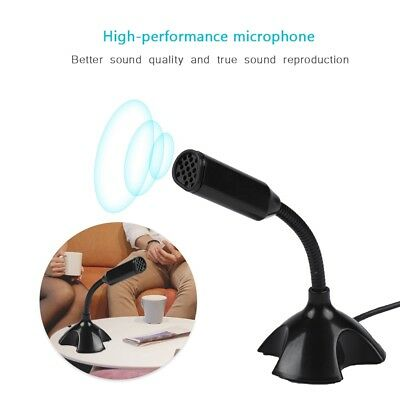 USB Condenser Studio Sound Recording Microphone Mic For Skype Laptop Computer