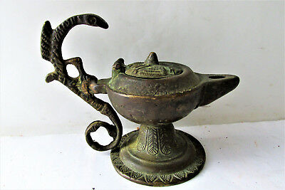 Rare Ancient Late Byzantine /early Medieval  Bronze Oil Lamp