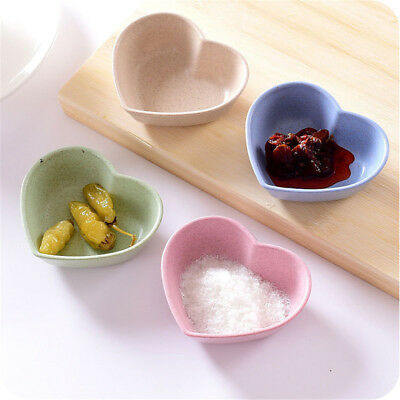 heart shape fruit snack sauce bowl food container tableware dinner plates#K