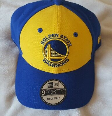 a8c84a3c28c New Golden State Warriors New Era 9Forty Adjustable Hat Cap. Blue Yellow
