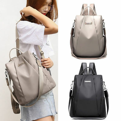 Women Lady Waterproof Oxford Cloth Travel Backpack Nylon Anti-theft Shoulder Bag