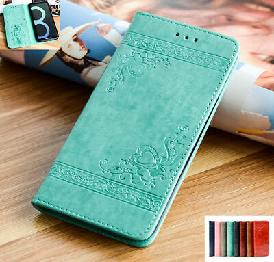 For Samsung Galaxy Phones Retro Magnetic Flip Leather Wallet Stand Case Cover