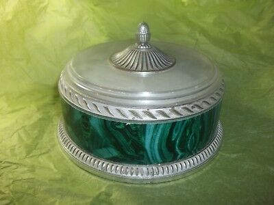 Vintage Avon Regence Beauty Dust In Decorative Canister With Lid And Puff