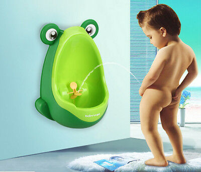 Pee Potty Kids  Bathroom Plastic Baby Toilet Training Frog Children Urinal  Boys
