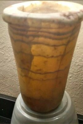 Ancient Egyptian Banded Alabaster Vessel/Jar! Authentic! Great Provenance!