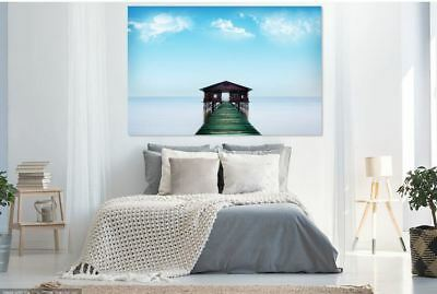 beautiful clouds-dayligh colorful-sea -high quality Canvas painting  Home decor
