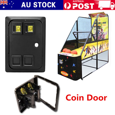 Arcade/Pinball Game Two Entry Coin Door panel Wells Gardner Style Coin acceptor