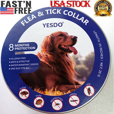 Yesdo Flea and Tick Collar for Medium Large Dog Over 18lbs 8 Month Protection