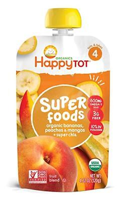 Happy Tot Stage 4 Super Foods Bananas Peaches & Mangos + Super Chia, 4.22 Ounce