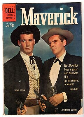 Maverick #12 - James Garner & Jack Kelly Photo Cover, VG - Fine Condition