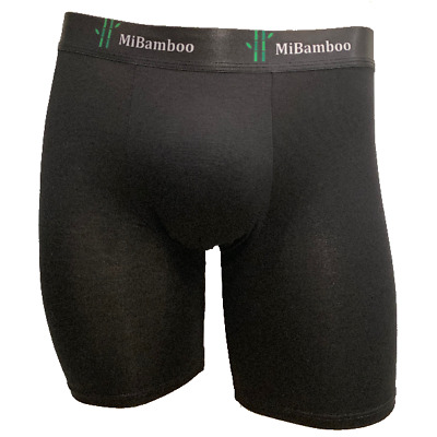 MiBamboo Men's Bamboo Mid Length Trunks NO CHAFE Free Postage | Underwear Brief
