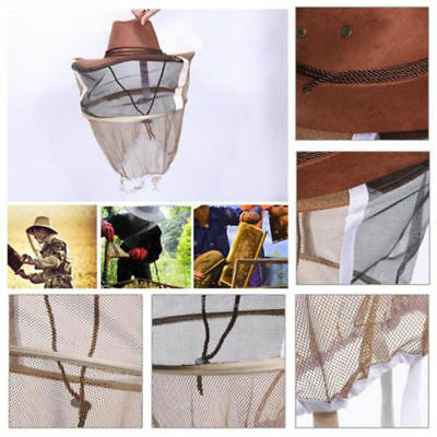1xBeekeeping Beekeeper Cowboy Hat Mosquito Bee Insect Net Veil Face Head Durable