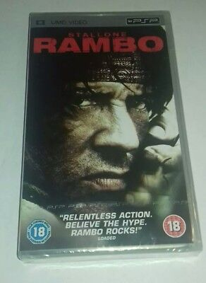 Sony PSP DISC - Sylvester Stallone - RAMBO UMD FILM - BRAND NEW SEALED FAST POST