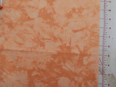 Handspray Orange Half Meter 100% Cotton Fabric