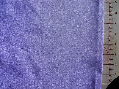 Patchwork Cotton Circles White on Mauve Half Meter