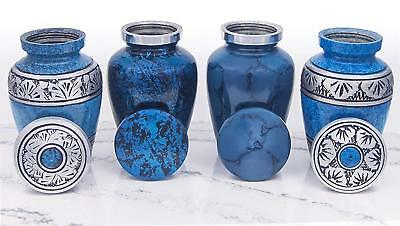 Small Cremation Urns for Human Ashes by Adera Dreams - Mini Keepsake Urn Set (4)