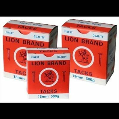 Lion Brand Blued Cut Upholstery Tacks 500g Box 13mm Fine