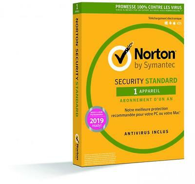Norton Security Standard | 1 Appareil | 1 an | PC/Mac/iOS/Android |...