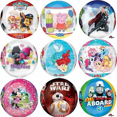 """Character Orbz Foil Balloons 16"""" Round Disney Birthday Party Decorations"""