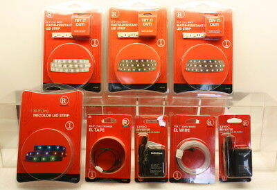Radio Shack LED Strips, Electroluminescence EL Wire, Tape, Power and more
