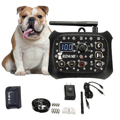New Rechargeable Wireless Electric Dog Fence Containment System No-Wire Collar N