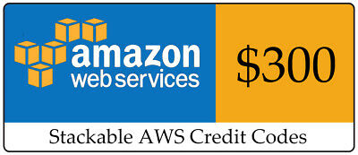 AWS Amazon Web Services Credit $300 EC2 SQS RDS promocode Credit Code exp 2020