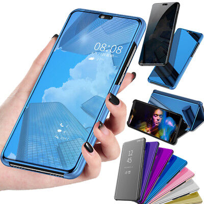 Smart Case For Huawei Mate 20 Lite / P20 360° Clear View Mirror Flip Stand Cover