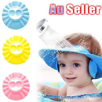 Shampoo Shield Baby Kids Children Adjustable Shower Bath Wash Hair Hat Cap